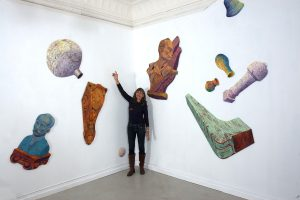 Joanna Pinsky with installation at Space 900