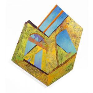 """Havana High, acrylic on canvas, 48"""" x 52"""" x 2.5"""""""
