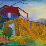 "Italian Storage House II, 22"" x 30"", Collection of John and Ellen Wright"