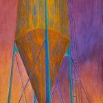 "Watertower II, 40"" x 26"""