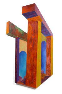 "Beams, acrylic on canvas, 72"" x 46"" x 2.5"""