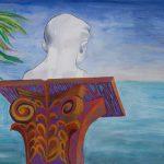 "Marti Overlooking the Sea, 22"" x 30"", © 2013"