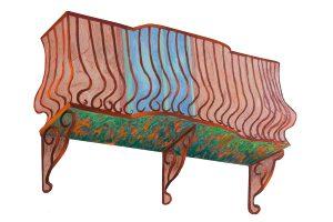 "Irish Balcony, 2D shaped board, aprox. 32"" x 40"""