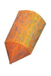 "Watertower, 2D shaped board, approx. 32"" x 25"""