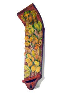 """Flower Girl, 2D shaped board, approx. 40"""" x 15"""""""