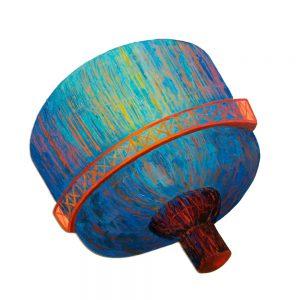 "LBI Watertower, acrylic on synthetic board, 18"" x 14"""