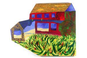 """Mainland, acrylic on canvas, 50"""" x 48"""""""