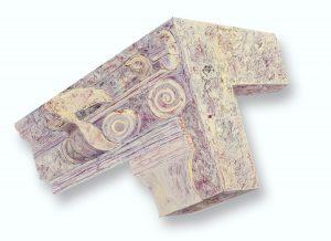 "Aladdin Building Fragment, 2D shaped board, approx. 36"" x 30"""