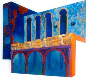 """Aladdin's House, acrylic on canvas, 48"""" x 68"""" x 2.5"""""""