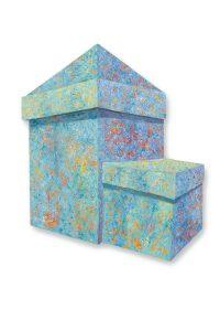 """Blue Malacon Post, 2D shaped board, 46"""" x 36"""""""